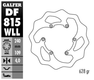 画像2: Galfer ウエーブディスクソリッド 240*4 DF815WLL