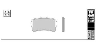 画像2: Galfer セミメタルパッド FD460G1054