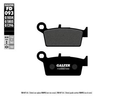 画像1: Galfer セミメタルパッド FD093G1054